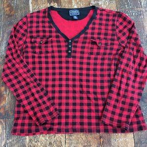 Chaps Classics Red Plaid Cotton Longsleeve